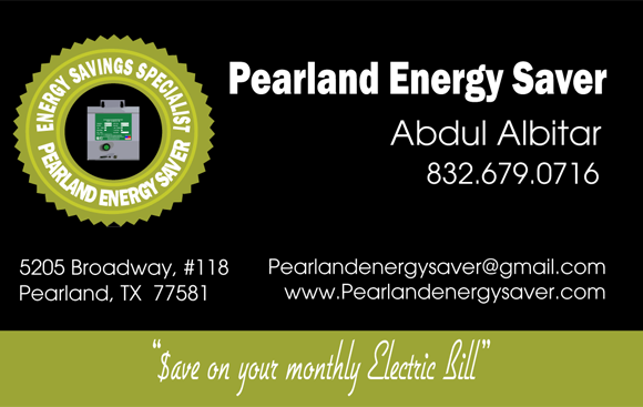 Pearland Energy Saver - Business Card